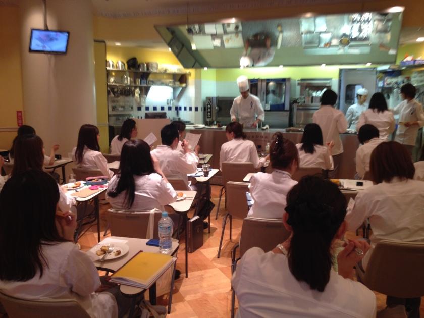 Classroom at Le Cordon Bleu Tokyo