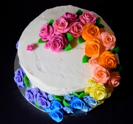 Coconut Rainbow Cake