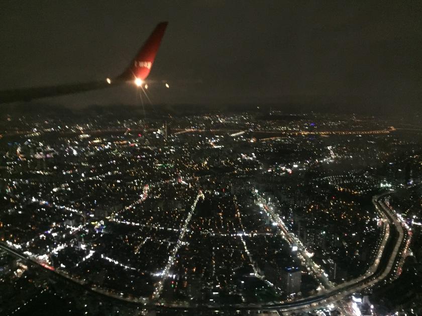 Landing in Seoul