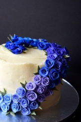 Ombre Rose Cake
