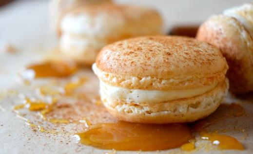 Caramel Cinnamon Macarons