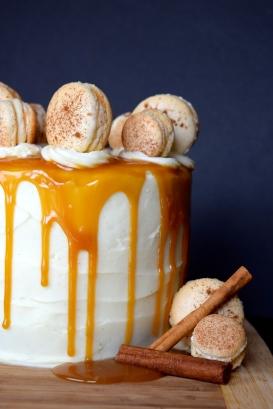 Caramel Macaron Cake