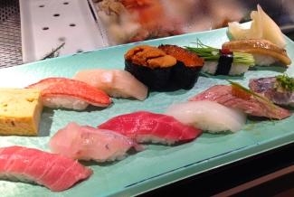 Sushi in Tsukiji Fish Market
