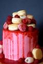 Raspberry Lychee Cake