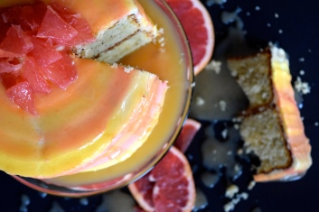 Grapefruit Watercolor Cake